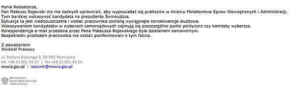 Mateusz Rojewski z MSWiA wyjawił niewygodną tajemnicę? Za przyznanie że Janusz Żmurkiewicz jest kandydatem PiSu, może nawet stracić pracę!