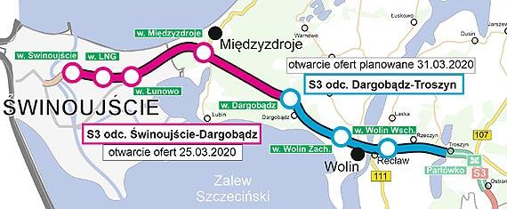 Poznaliśmy oferty wykonawców w przetargu na realizację drogi S3 na odcinku Świnoujście - Dargobądz