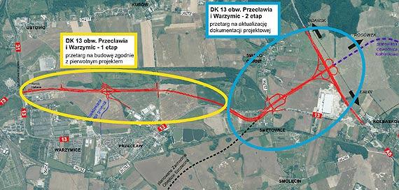Otworzyliśmy oferty cenowe w przetargu na budowę pierwszego odcinka obwodnicy Przecławia i Warzymic w ciągu DK13